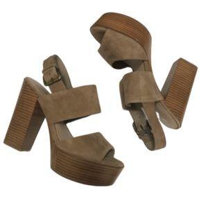 COPY - NWOT Aldo Suede Chunky Heel Sandals